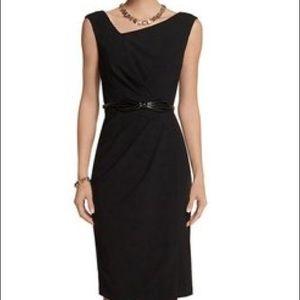 White House Black Market Asymmetrical Dress Sz 00